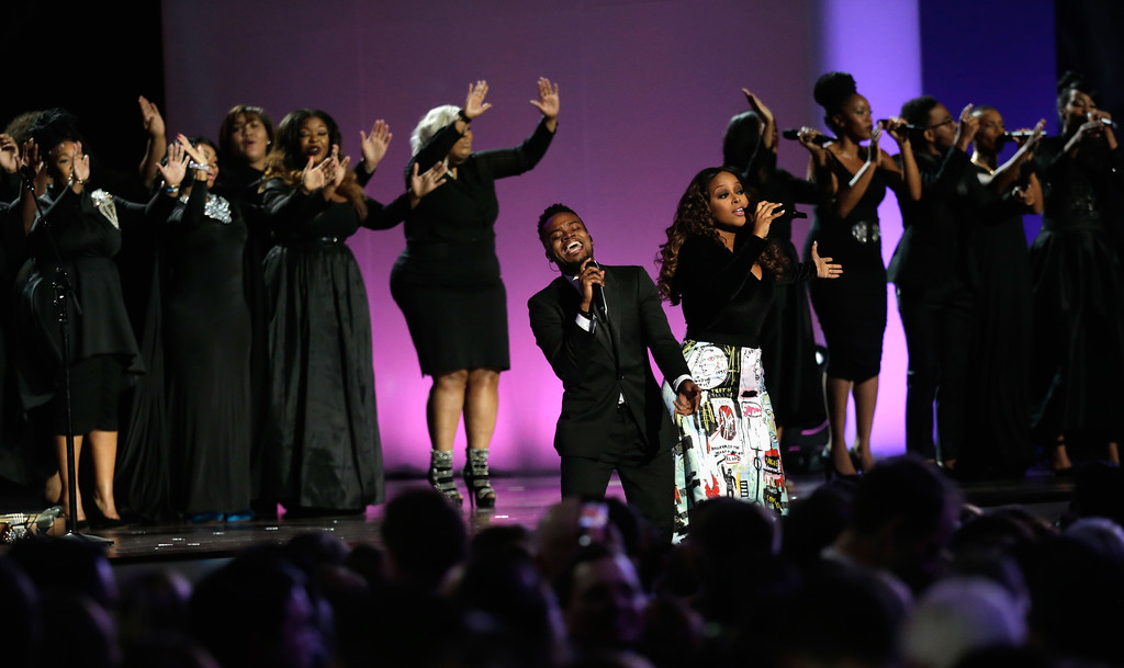 . WASHINGTON, DC - JANUARY 20:  Musicians peform at the Liberty Inaugural Ball on January 20, 2017 in Washington, DC.  The Liberty Ball is the first of three inaugural balls that President Donald Trump will be attending.  (Photo by Rob Carr/Getty Images)