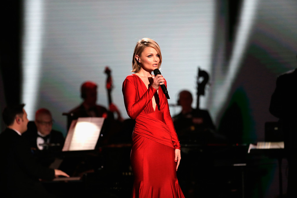 . WASHINGTON, DC - JANUARY 20:  Singer Erin Boheme entertains the crowd at the Liberty Inaugural Ball on January 20, 2017 in Washington, DC.  The Liberty Ball is the first of three inaugural balls that President Donald Trump will be attending.  (Photo by Rob Carr/Getty Images)