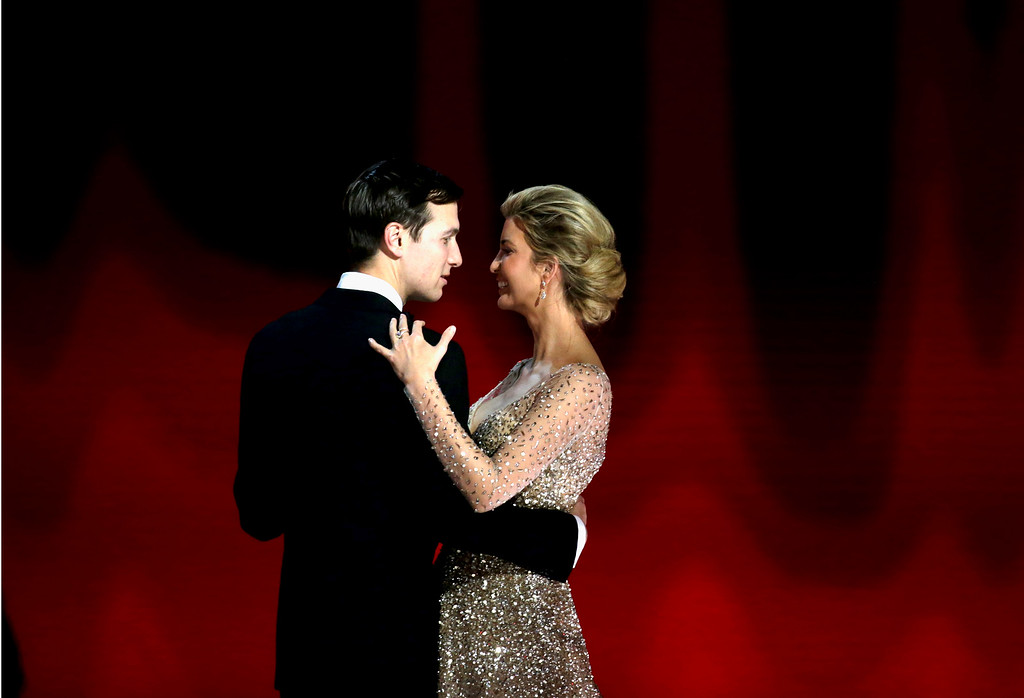 . WASHINGTON, DC - JANUARY 20:  Ivanka Trump dances with husband Jared Kurshner at the Liberty Inaugural Ball on January 20, 2017 in Washington, DC.  The Liberty Ball is the first of three inaugural balls that President Donald Trump will be attending.  (Photo by Rob Carr/Getty Images)
