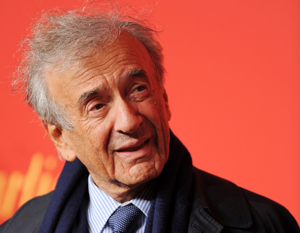 . FILE - In this April 30, 2009 file photo Elie Wiesel attends the Cartier 100th Anniversary in America celebration in New York, USA. (AP Photo/Evan Agostini)