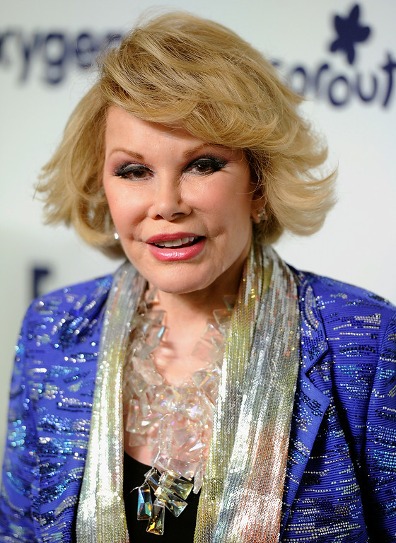 . Joan Rivers attends the NBCUniversal Cable Entertainment 2014 Upfront at the Javits Center on Thursday, May 15, 2014, in New York. (Photo by Evan Agostini/Invision/AP)
