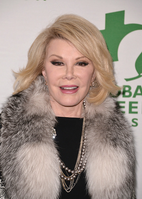 . Actress Joan Rivers arrives at the 11th Annual Global Green USA Oscar week party at Avalon Hollywood on Wednesday, Feb. 26, 2014 in Los Angeles. (Photo by Dan Steinberg/Invision/AP)