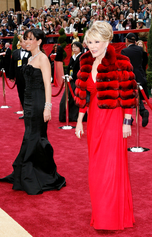 . Joan and Melissa Rivers arrive for the 79th Academy Awards Sunday, Feb. 25, 2007, in Los Angeles. (AP Photo/Kevork Djansezian)