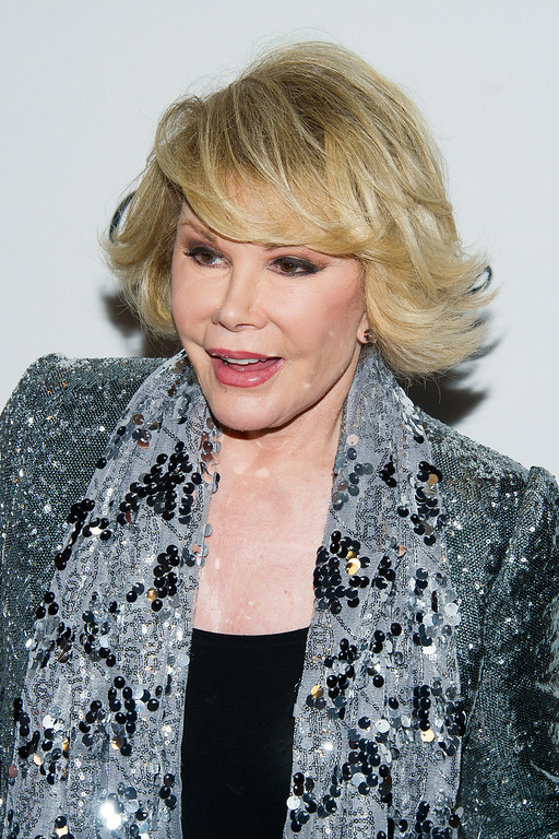 . Joan Rivers attends A Celebration of Barbara Walters at the Four Seasons Restaurant on Wednesday, May 14, 2014 in New York. (Photo by Charles Sykes/Invision/AP)