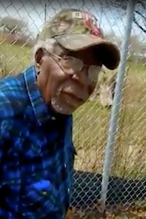 . This Sunday, April 16, 2017 frame from video posted on Facebook shows Robert Godwin Sr. in Cleveland moments before being fatally shot. The search for murder suspect Steve Stephens put authorities in surrounding states on the lookout Monday after police said the man might have left Ohio. (Facebook via AP)