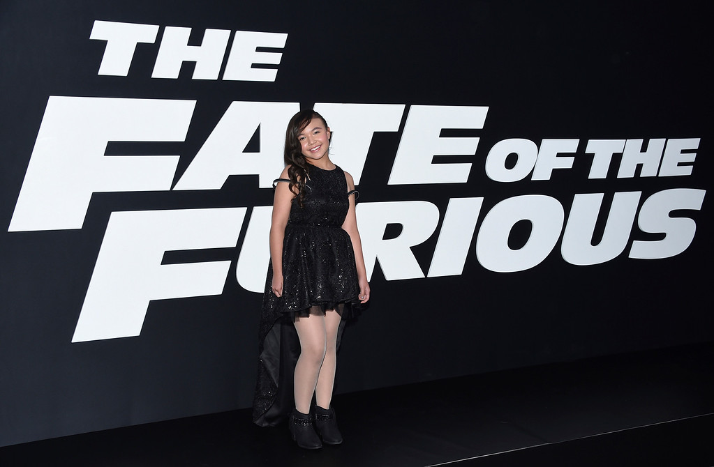 ". Eden Estrella attends the world premiere of Universal Pictures\' ""The Fate of the Furious\"" at Radio City Music Hall on Saturday, April 8, 2017, in New York. (Photo by Evan Agostini/Invision/AP)"