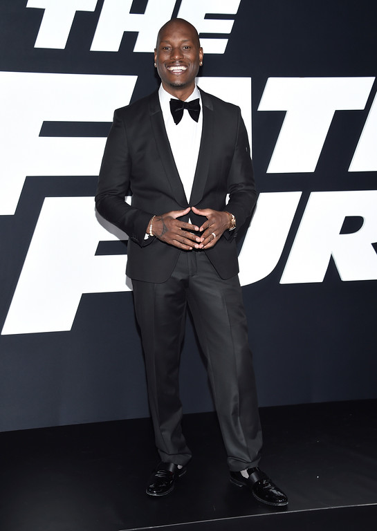 ". Tyrese Gibson attends the world premiere of Universal Pictures\' ""The Fate of the Furious\"" at Radio City Music Hall on Saturday, April 8, 2017, in New York. (Photo by Evan Agostini/Invision/AP)"