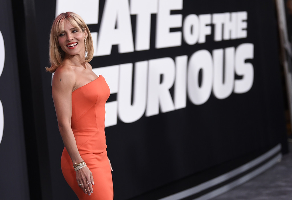 """. Elsa Pataky attends the world premiere of Universal Pictures\' \""""The Fate of the Furious\"""" at Radio City Music Hall on Saturday, April 8, 2017, in New York. (Photo by Evan Agostini/Invision/AP)"""