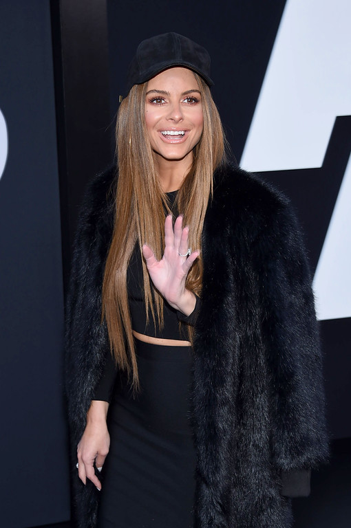 ". NEW YORK, NY - APRIL 08:  Actor Maria Menounos attends ""The Fate Of The Furious\"" New York Premiere at Radio City Music Hall on April 8, 2017 in New York City.  (Photo by Dimitrios Kambouris/Getty Images)"