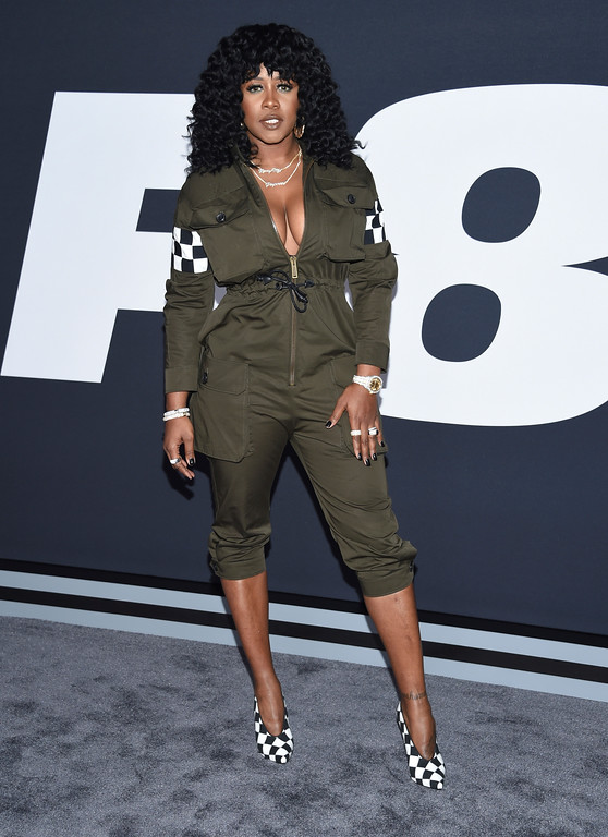 """. Remy Ma attends the world premiere of Universal Pictures\' \""""The Fate of the Furious\"""" at Radio City Music Hall on Saturday, April 8, 2017, in New York. (Photo by Evan Agostini/Invision/AP)"""