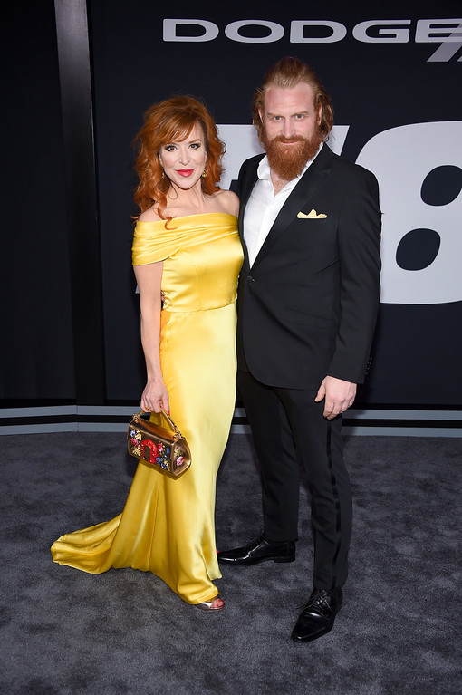 """. NEW YORK, NY - APRIL 08:  Director Gry Molvær Hivju and Actor Kristofer Hivju attend \""""The Fate Of The Furious\"""" New York Premiere at Radio City Music Hall on April 8, 2017 in New York City.  (Photo by Dimitrios Kambouris/Getty Images)"""
