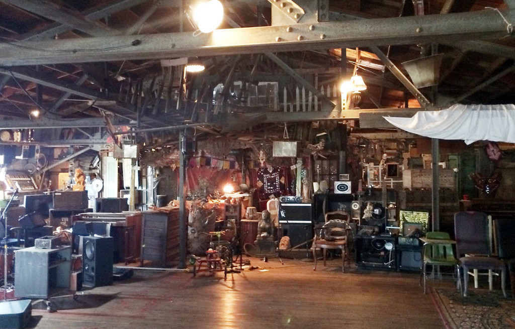 . This 2014 photo provided by Ajesh Shah shows the interior of a portion of the \'Ghost Ship\' warehouse, taken while he was on a tour as a potential tenant of the Oakland, Calif., building. Dozens of people died at a party after a fire that started late Friday, Dec. 2, 2016, and swept through the building. (Ajesh Shah via AP)