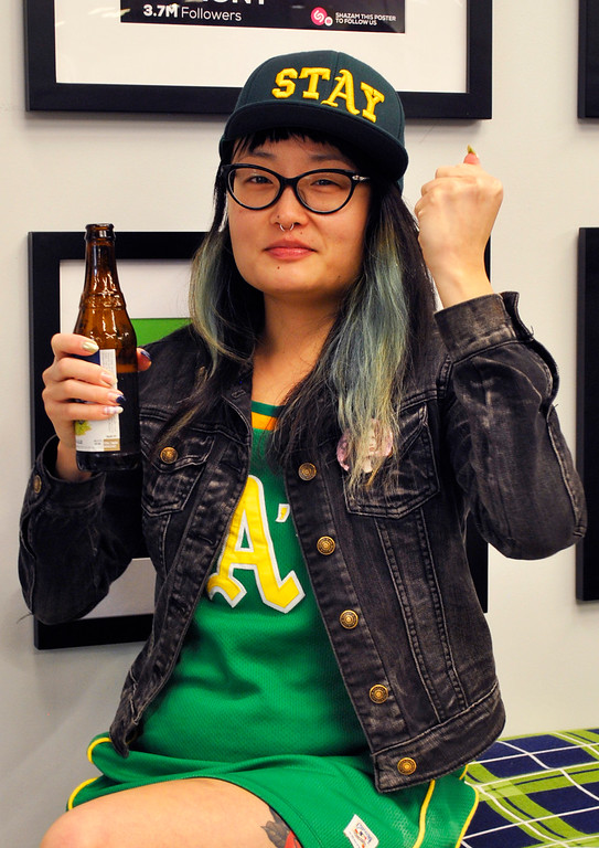 . This photo taken Feb. 2, 2016, provided by Jonathan Ruiz, shows Jennifer Kiomi Tanouye at a Super Bowl Party in Redwood City, Calif. Tanouye was one of the victims in the deadly warehouse fire on Dec. 2, in Oakland, Calif. Tanouye, reportedly had a nail art booth on the second floor of the warehouse space where the fire broke out. (Jonathan Ruiz via AP)