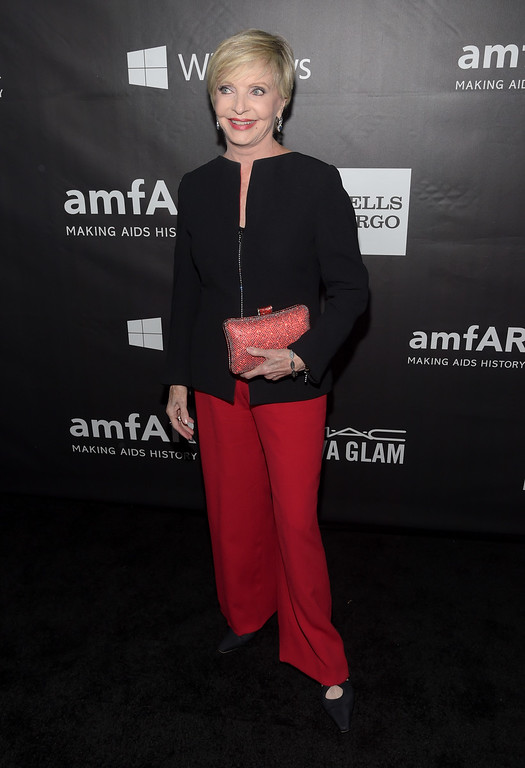 . HOLLYWOOD, CA - OCTOBER 29:  Actress Florence Henderson attends amfAR LA Inspiration Gala honoring Tom Ford at Milk Studios on October 29, 2014 in Hollywood, California.  (Photo by Jason Kempin/Getty Images)
