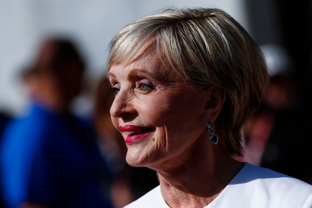 . INDIANAPOLIS, IN - MAY 29: Florence Henderson arrives at the Indianapolis Motor Speedway on May 29, 2016 in Indianapolis, Indiana. (Photo by Michael Hickey/Getty Images)