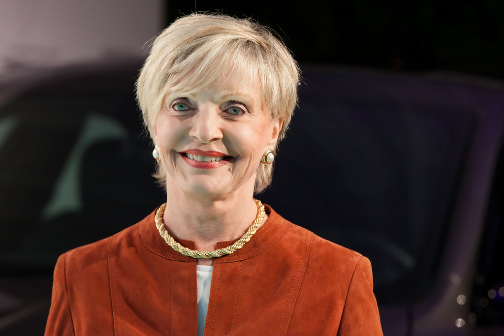 ". WEST HOLLYWOOD, CA - FEBRUARY 27:  Florence Henderson arrives for the Vanity Fair Campaign Hollywood ""American Hustle\"" Toast Sponsored By Chrysler - Arrivals at Ago Restaurant on February 27, 2014 in West Hollywood, California.  (Photo by Gabriel Olsen/Getty Images)"