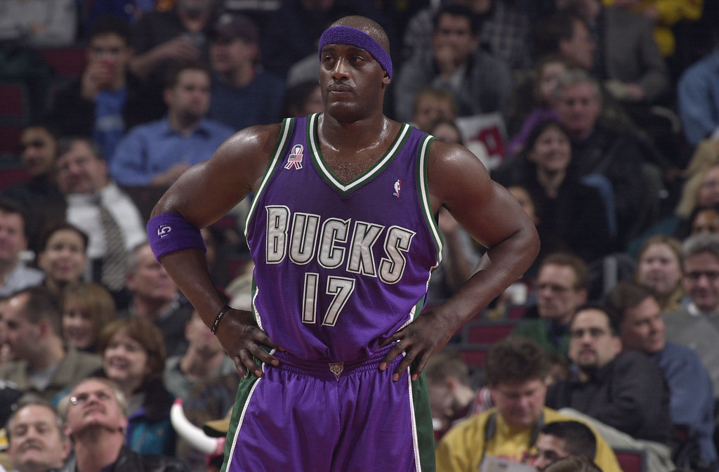 . FILE -  Anthony Mason of the Milwaukee Bucks looks on during the game against the Chicago Bulls  at United Center in Chicago, Illinois. (Jonathan Daniel/Getty Images)