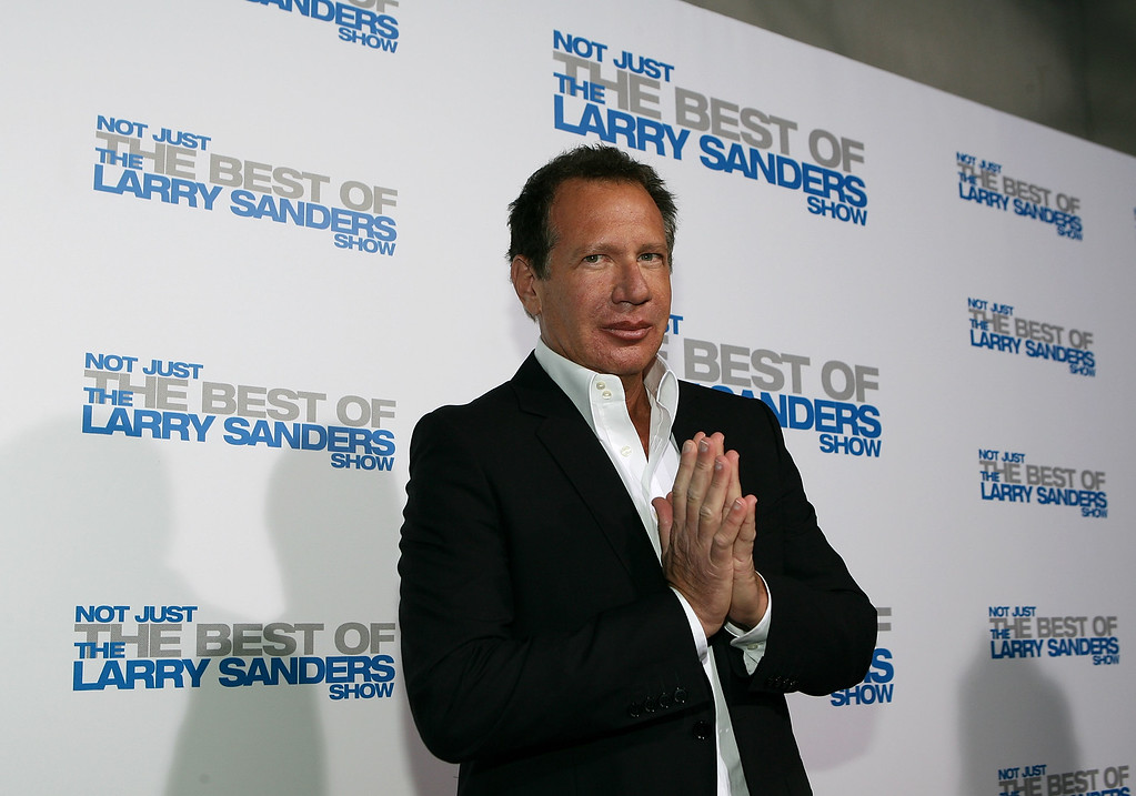 ". In this 2007 file photo, Actor Garry Shandling arrives at the wrap party and DVD release for ""The Larry Sanders Show\"" at Cut on April 10, 2007 in Beverly Hills, California. Shandling, who as an actor and comedian pioneered a pretend brand of self-focused docudrama with \""The Larry Sanders Show,\"" died Thursday, March 24, 2016 in Los Angeles of an undisclosed cause. He was 66.  (Photo by Michael Buckner/Getty Images)"