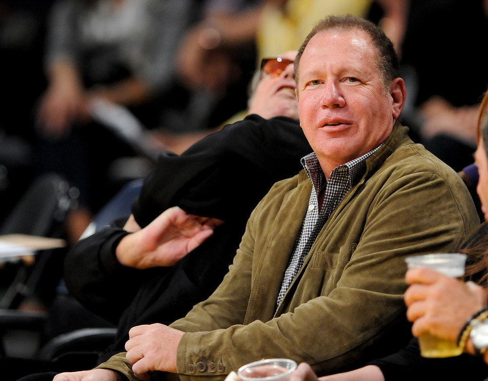 . Actor Garry Shandling attends an NBA basketball game between the Houston Rockets and the Los Angeles Lakers, Friday, April 6, 2012, in Los Angeles.  (AP Photo/Gus Ruelas)