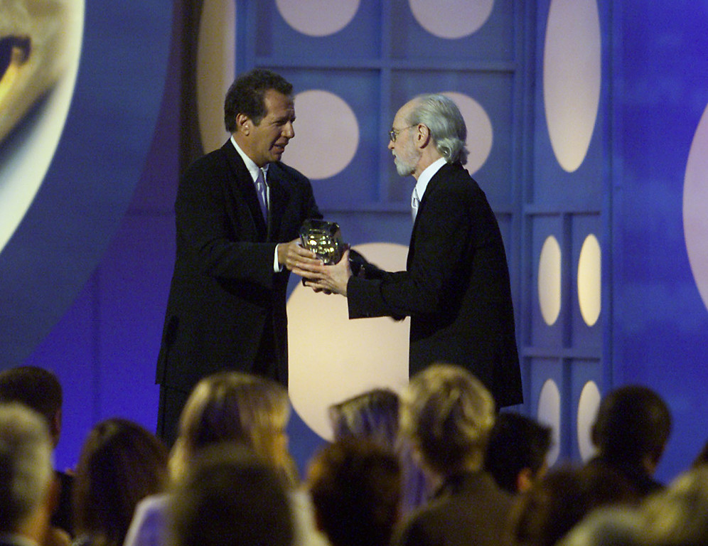 . Garry Shandling gives the Lifetime Achievement Award to George Carlin at The 15th Annual American Comedy Awards held at Universal Studios, Los Angeles, CA.  Sunday, April 22, 2001.   (photo by Kevin Winter/Getty Images)