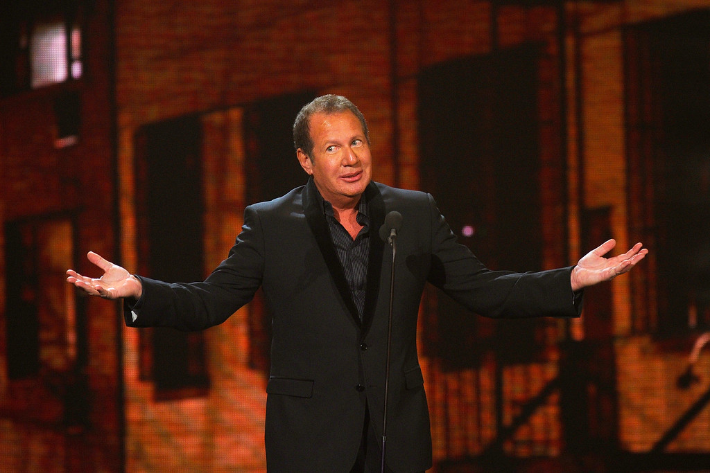 . Comedian Garry Shandling speaks onstage at the First Annual Comedy Awards at Hammerstein Ballroom on March 26, 2011 in New York City.  (Photo by Dimitrios Kambouris/Getty Images)