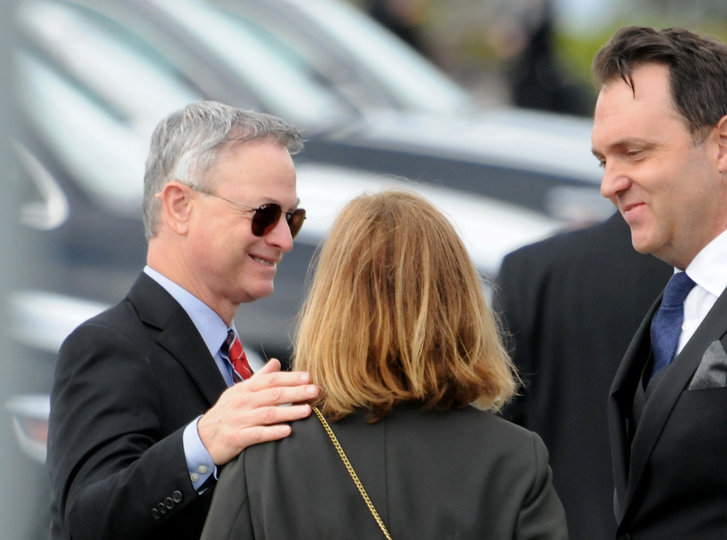 . Actor Gary Sinise arrives at the Ronald Reagan Presidential Library for funeral services for former first lady Nancy Reagan in Simi Valley on Friday, March 11, 2016.  (Photo by Dean Musgrove/Los Angeles Daily News)