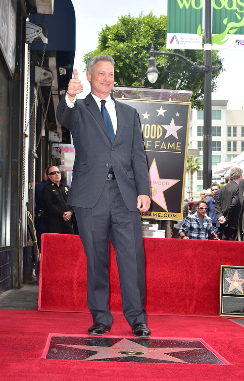 . Actor Gary Sinise is seen at his Walk of Fame Star ceremony in Hollywood, California on April 17, 2017. (FREDERIC J. BROWN/AFP/Getty Images)