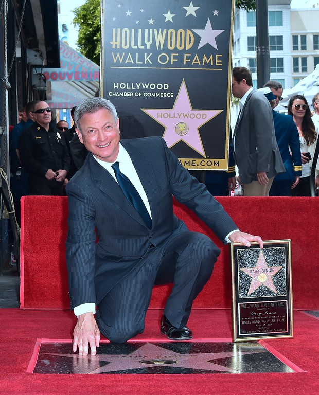 . Actor Gary Sinise is seen at his Walk of Fame Star ceremony in Hollywood, California on April 17 ,2017. (FREDERIC J. BROWN/AFP/Getty Images)