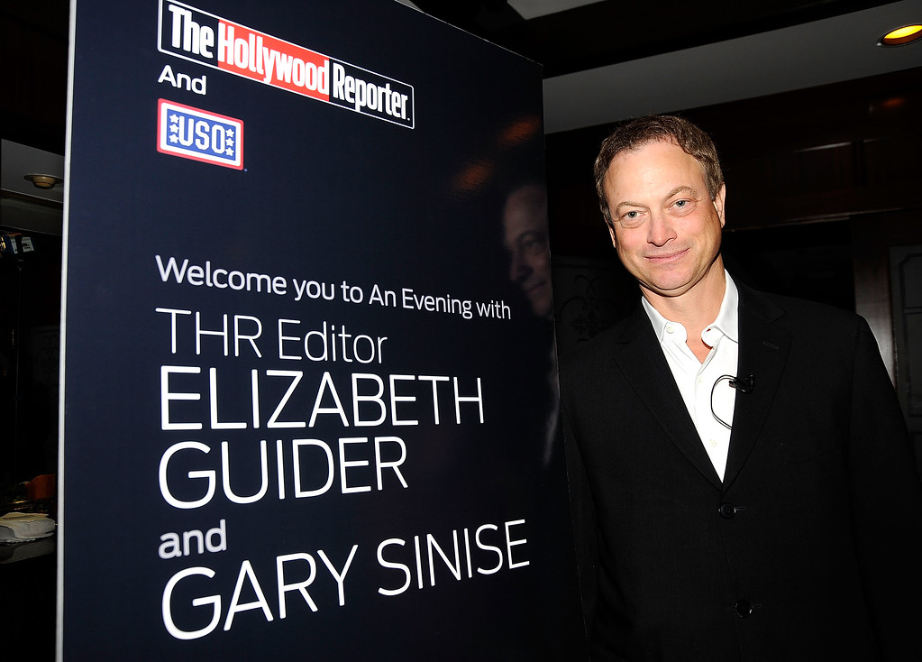 . BEVERLY HILLS, CA - MAY 12:  Actor Gary Sinise  attends the Hollywood Reporter, USO (United Service Organizations) Cocktail reception hosted by Elizabeth Guider, Hollywood Reporter Editor with a Q&A with Gary Sinise, on May 12, 2009  at Mortons Steakhouse in Beverly Hills, California.  (Photo by Frazer Harrison/Getty Images)