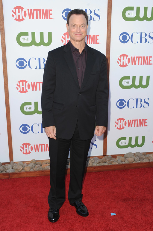 . BEVERLY HILLS, CA - AUGUST 03:  Actor Gary Sinise arrives at the TCA Party for CBS, The CW and Showtime held at The Pagoda on August 3, 2011 in Beverly Hills, California.  (Photo by Frazer Harrison/Getty Images)