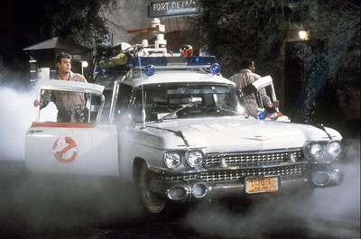 "Dan Aykroyd and Ernie Hudson in ""Ghostbusters."" (1984) (File photo)"