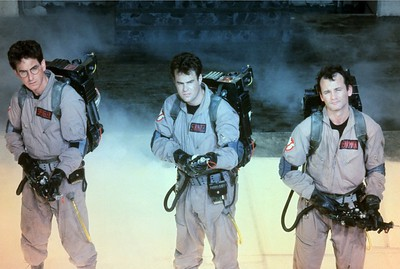 "Harold Ramis, Dan Aykroyd and Bill Murray in ""Ghostbusters."" (1984) (File photo)"