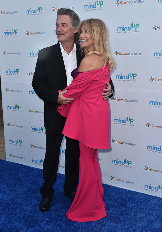 . BEVERLY HILLS, CA - MAY 06:  Actors Kurt Russell and Goldie Hawn attend Goldie Hawn\'s Annual Goldie\'s Love In For Kids on May 06, 2016 in Beverly Hills, California.  (Photo by Alberto E. Rodriguez/Getty Images)
