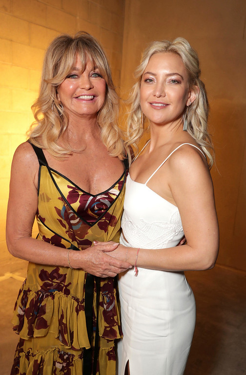 . Goldie Hawn and Kate Hudson are seen at a double star ceremony honoring Goldie Hawn and Kurt Russell on the Hollywood Walk of Fame on Thursday, May 4, 2017, in Los Angeles. (Photo by Eric Charbonneau/Invision for Twentieth Century Fox/AP Images)