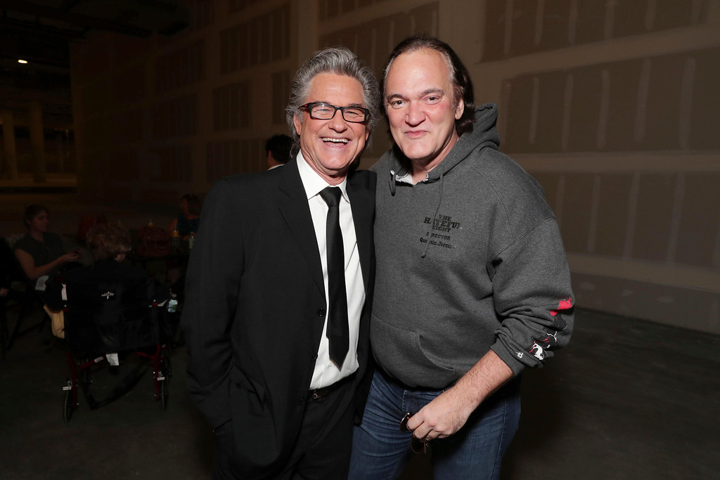 . Kurt Russell and Quentin Tarantino seen at Goldie Hawn and Kurt Russell honored with a double star ceremony on the Hollywood Walk of Fame on Thursday, May 4, 2017, in Los Angeles. (Photo by Eric Charbonneau/Invision for Twentieth Century Fox/AP Images)
