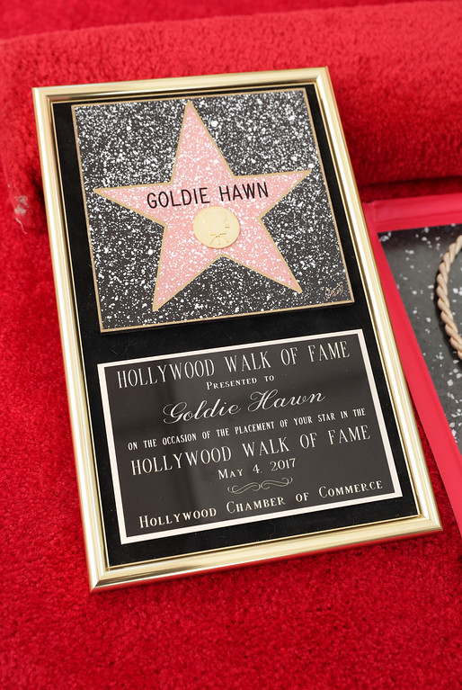 . Goldie Hawn and Kurt Russell honored with a double star ceremony on the Hollywood Walk of Fame on Thursday, May 4, 2017, in Los Angeles. (Photo by Eric Charbonneau/Invision for Twentieth Century Fox/AP Images)