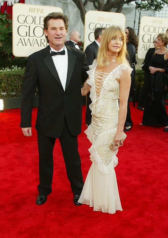 . Kurt Russell and Goldie Hawn arrive at the 60th Annual Golden Globe Awards held at the Beverly Hilton Hotel in Beverly Hills, CA., January 19, 2003.  Photo by Kevin Winter/ImageDirect
