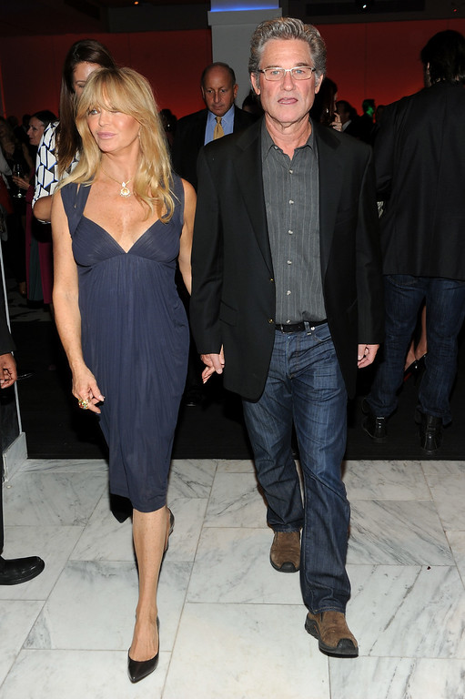 . NEW YORK, NY - SEPTEMBER 25:  Actors Goldie Hawn and Kurt Russell attend DuJour\'s Jason Binn and Kurt Russell\'s celebration of Goldie Hawn and The Hawn Foundation at Espace on September 25, 2013 in New York City.  (Photo by Jamie McCarthy/Getty Images for DuJour)