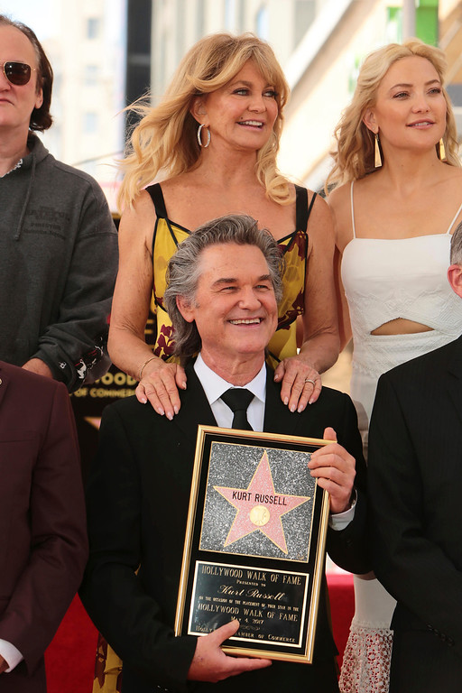 . Goldie Hawn and Kurt Russell seen at ceremony honoring them each with a star on the Hollywood Walk of Fame on Thursday, May 4, 2017, in Los Angeles. (Photo by Eric Charbonneau/Invision for Twentieth Century Fox/AP Images)