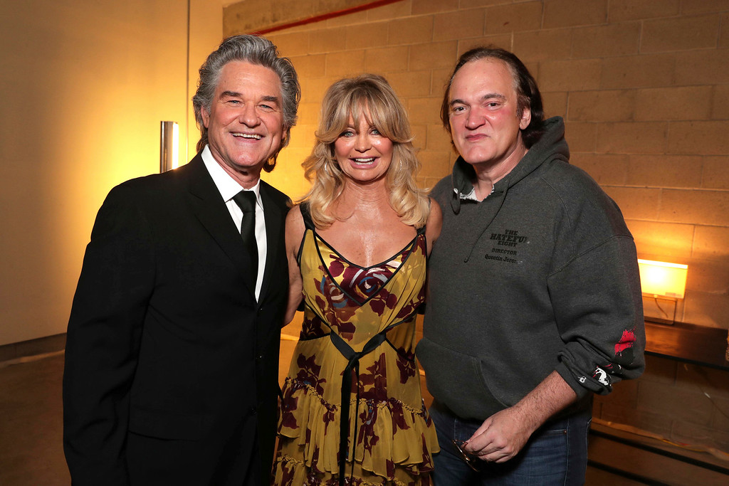 . Kurt Russell, Goldie Hawn and Quentin Tarantino are seen at a double star ceremony honoring Goldie Hawn and Kurt Russell on the Hollywood Walk of Fame on Thursday, May 4, 2017, in Los Angeles. (Photo by Eric Charbonneau/Invision for Twentieth Century Fox/AP Images)