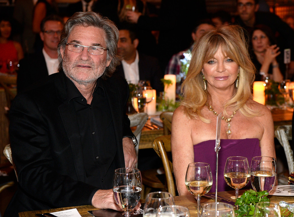 . HOLLYWOOD, CA - FEBRUARY 11:  Actors Kurt Russell (L) and Goldie Hawn attend will.i.am\'s i.am.angel Foundation TRANS4M 2016 Gala at Milk Studios on February 11, 2016 in Hollywood, California.  (Photo by Kevork Djansezian/Getty Images for i.am angel foundation)