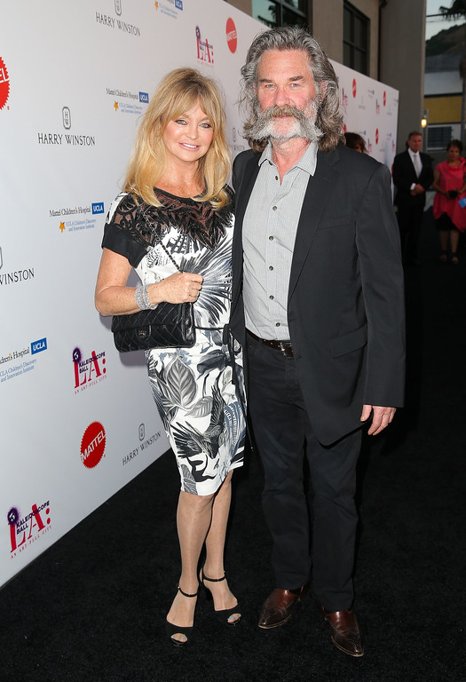 . CULVER CITY, CA - MAY 02:  Actress Goldie Hawn (L) and actor Kurt Russell attend the Mattel Children\'s Hospital UCLA Kaleidoscope Ball at 3LABS on May 2, 2015 in Culver City, California.  (Photo by Imeh Akpanudosen/Getty Images)