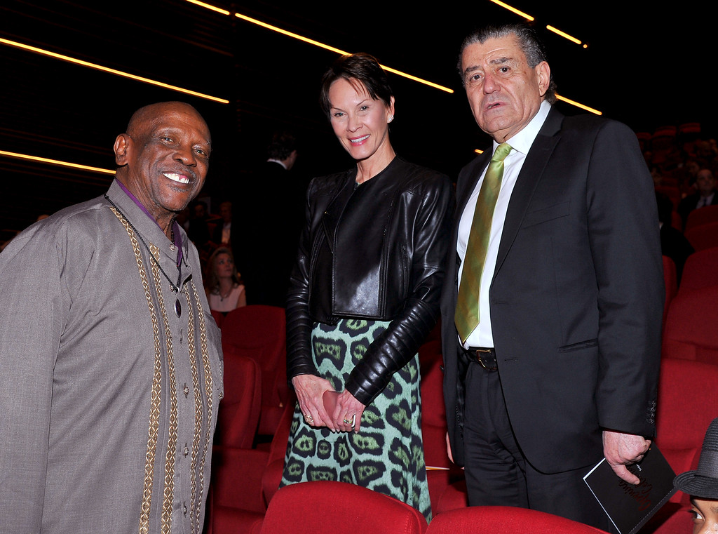 . Louis Gossett Jr, from left, Cheryl Saban and Haim Saban at the Television Academy�s 70th Anniversary Gala and Opening Celebration for its new Saban Media Center on June 2, 2016, in the NoHo Arts District in Los Angeles. (Photo by Vince Bucci/Invision for the Television Academy/AP Images)