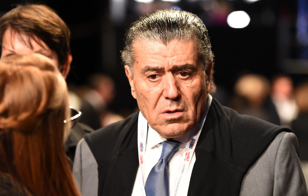 . Haim Saban arrives for the final presidential debate at the Thomas & Mack Center on the campus of the University of Las Vegas in Las Vegas, Nevada on October 19, 2016. (ROBYN BECK/AFP/Getty Images)