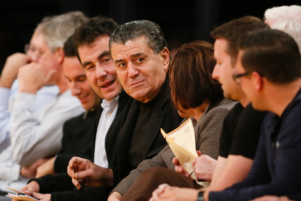 . Haim Saban, Chairman and Chief Executive Officer of SABAN Capital Group, Inc., sits courtside as the Utah Jazz play against the Los Angeles Lakers during the first half of an NBA basketball game in Los Angeles, Tuesday, Feb. 11, 2014. (AP Photo/Danny Moloshok)