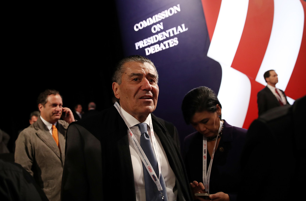 . LAS VEGAS, NV - OCTOBER 19: Businessman Haim Saban arrives before the start of the third U.S. presidential debate at the Thomas & Mack Center on October 19, 2016 in Las Vegas, Nevada. Tonight is the final debate ahead of Election Day on November 8.  (Photo by Drew Angerer/Getty Images)