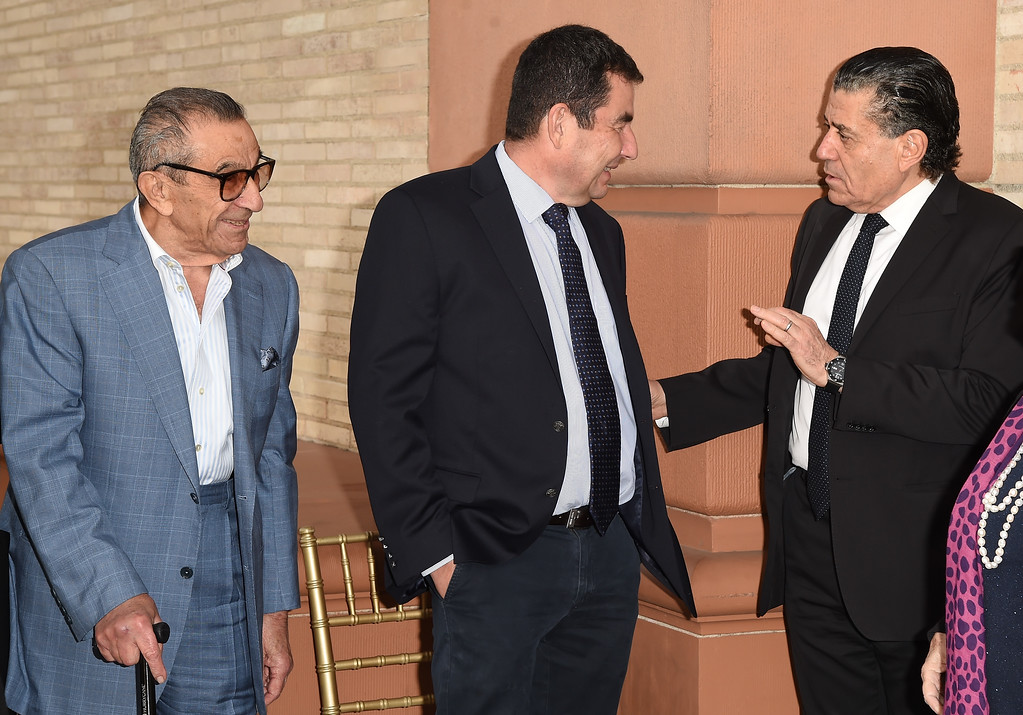 . BEVERLY HILLS, CA - MAY 05:  (L-R) Younes Nazarian, Ari Shavit, and Haim Saban arrive at the UCLA Younes & Soraya Nazarian Center For Israel Studies 5th Annual Gala at Wallis Annenberg Center for the Performing Arts on May 5, 2015 in Beverly Hills, California.  (Photo by Jason Merritt/Getty Images)