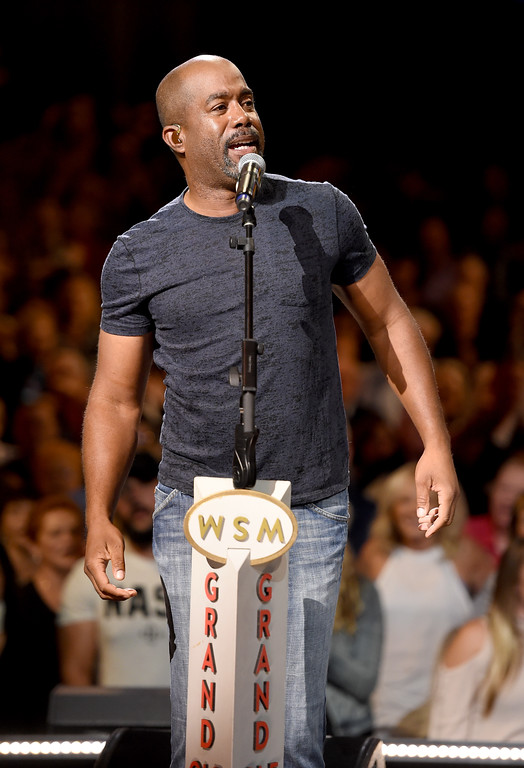 . NASHVILLE, TN - SEPTEMBER 12:  In this handout photo provided by Hand in Hand, Darius Rucker performs onstage during Hand in Hand: A Benefit for Hurricane Relief at the Grand Ole Opry House on September 12, 2017 in Nashville, Tennessee.  (Photo by John Shearer/Hand in Hand/Getty Images)