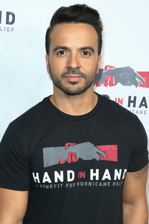 . Luis Fonsi attends the Hand in Hand: A Benefit for Hurricane Harvey Relief held at Universal Studios Back Lot on Tuesday, Sept. 12, 2017 in Universal City, Calif. (Photo by John Salangsang/Invision/AP)