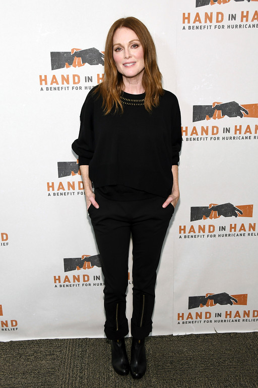 . Julianne Moore attends Hand in Hand: A Benefit for Hurricane Harvey Relief at ABC Studios on Tuesday, Sept. 12, 2017 in New York. (Photo by Charles Sykes/Invision/AP)